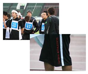 11月1日オンエアの「吉本陸上競技大会」にて、 吉本芸人さん達がKaepaジャージを着用