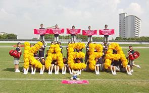 中京大中京高校チアリーディング部へ、今年もKaepaチアシューズ、オリジナルバッグ・タオルを提供。